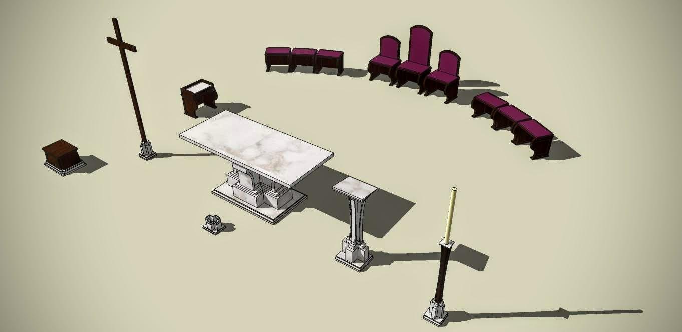 Inventár kostola, návrh realizácie.