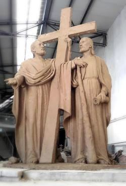 Sv. Filip a Jakub, model sochy.
