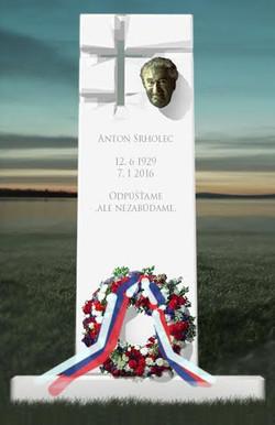 Pomník Srholec, skica