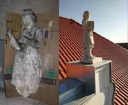 Fasádne prvky, socha 2, obec Igram