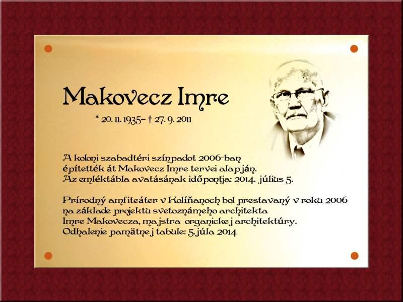 Imre Makovecz, návrh tabule.