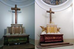 Oltár Považany rekonštrukcia