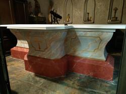 Nová spodná časť oltáru