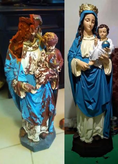 Rekonštrukcia sochy P. Mária