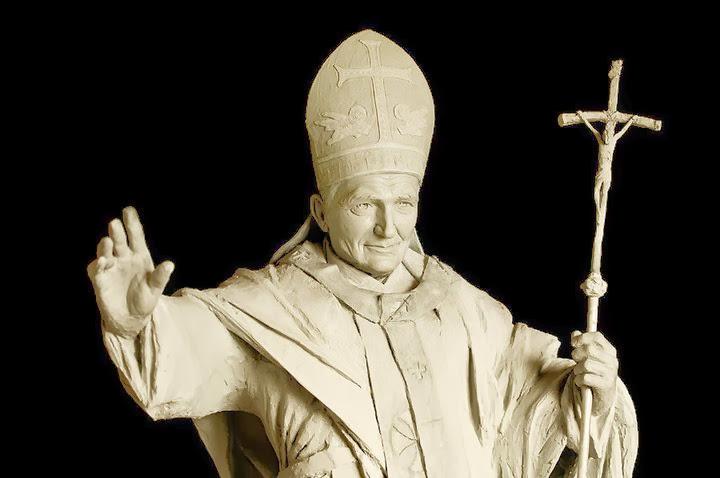 Pápež J. Pavol II. portrét.