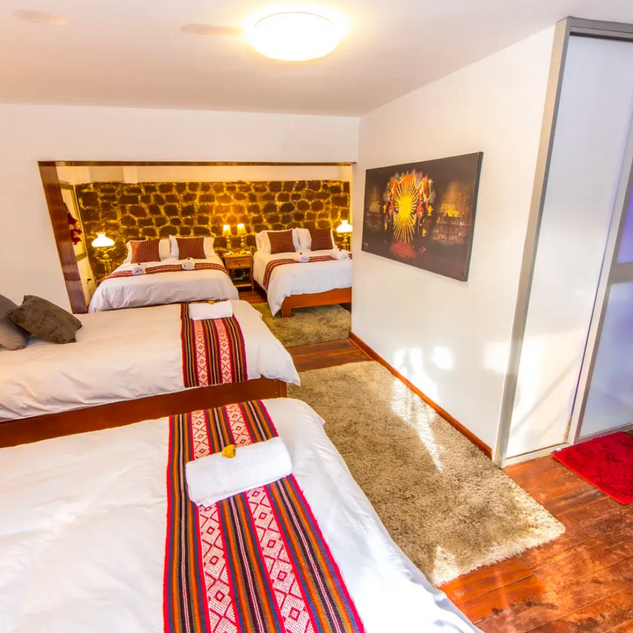 One of the bedrooms in our Cusco house