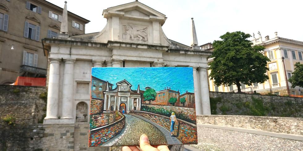 Tour delle Mura di Bergamo e laboratorio di pittura con Martin