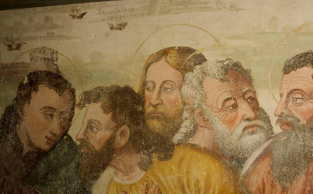 Affresco chiesa santo sepolcro Astino bergamo monastero
