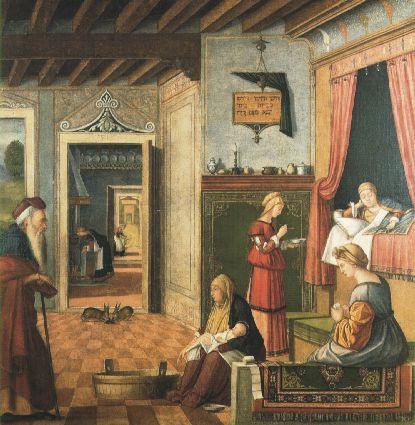VITTORE CARPACCIO-NATIVITA DI MARIA 1504