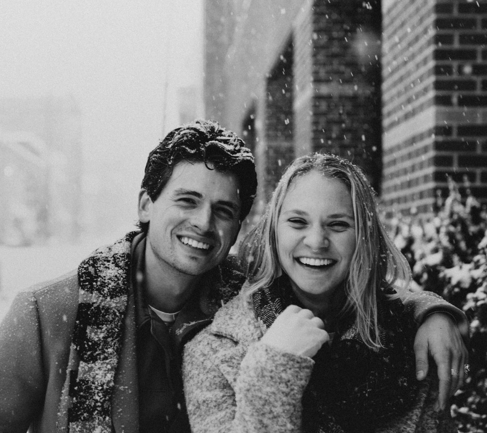 90s retro style couples photo session