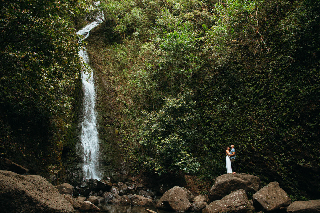 North Shore Oahu Waterfall Hike Mountain