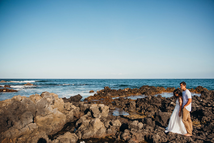 North Shore Oahu Tide Pool Volcano Krater Mountain Wedding Engagement Session Hawaii-94.jp