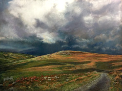 approaching storm, from Garndyrys, and toward Gilwern and the Black Mountain SOLD