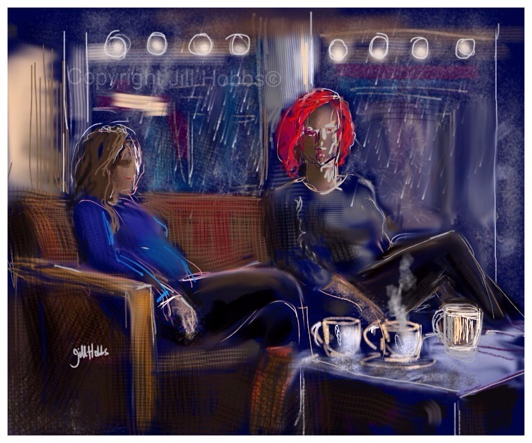 Hot coffee, cold rain, Starbucks Cwmbran.