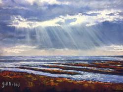 Cloud break, over Severn Estuary.