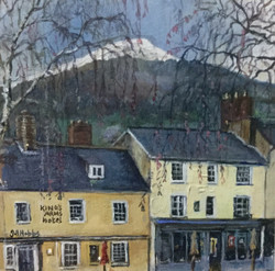 The Sugar Loaf, and The King's Arms Hotel, from Neville 'St. Abergavenny