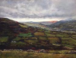 'Snow's coming, from Garnddyrys pastel. 16x22 in