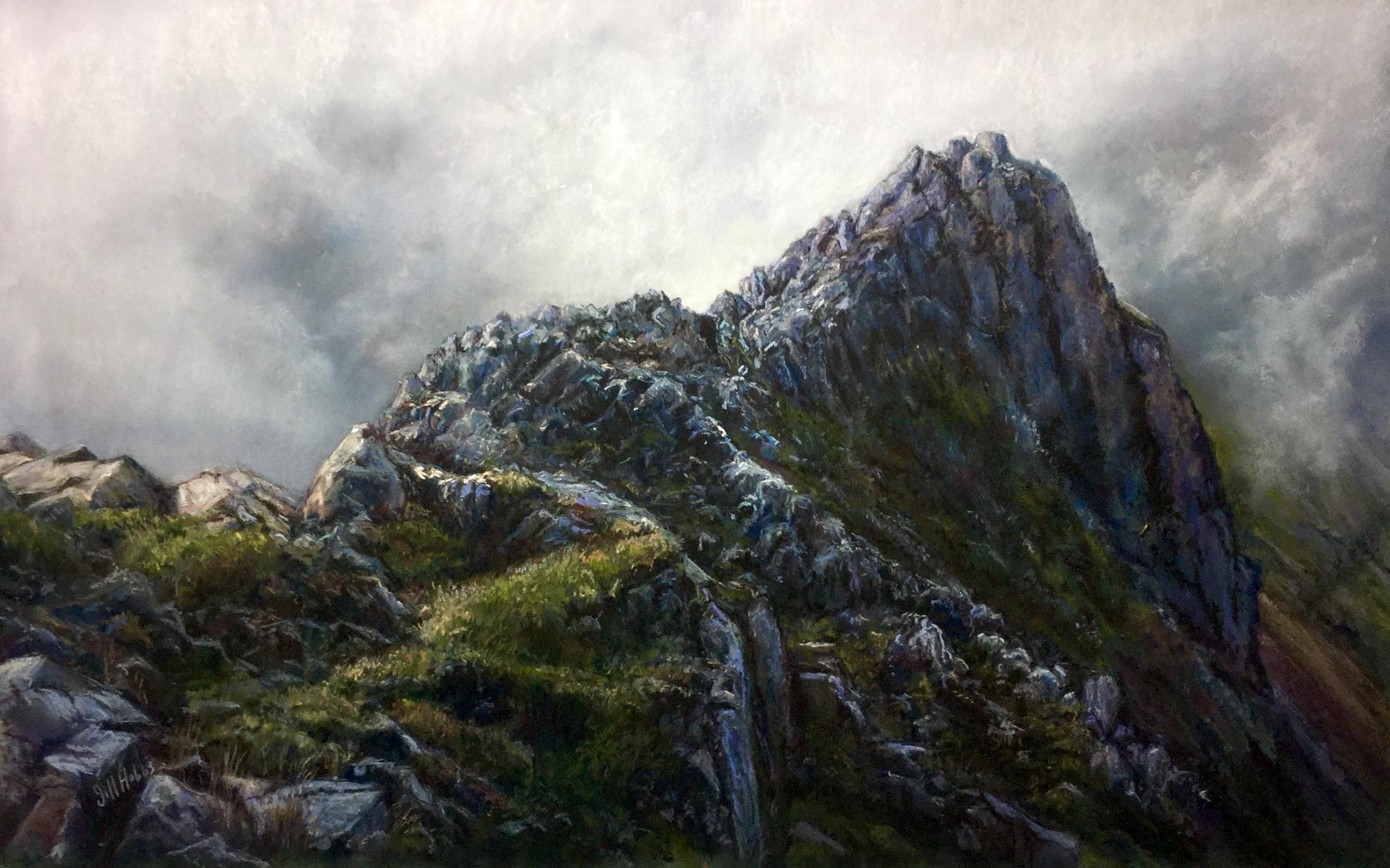 Crib Goch, Snowdonia. Framed 70x96 cm