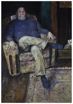 Poet, Peter John Lloyd.  Acrylic   SOLD