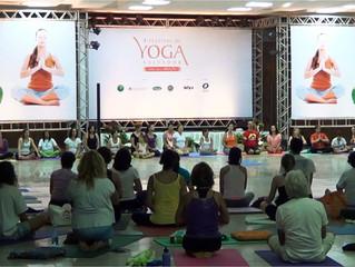 Eu, uma iniciante no Festival de Yoga da Bahia