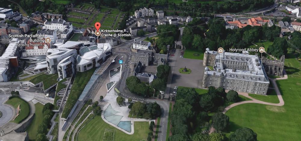 Juxtapose - Parliament_Holyroodhouse