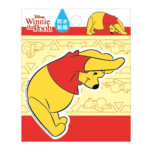 8CM防水貼紙_Pooh 小熊維尼