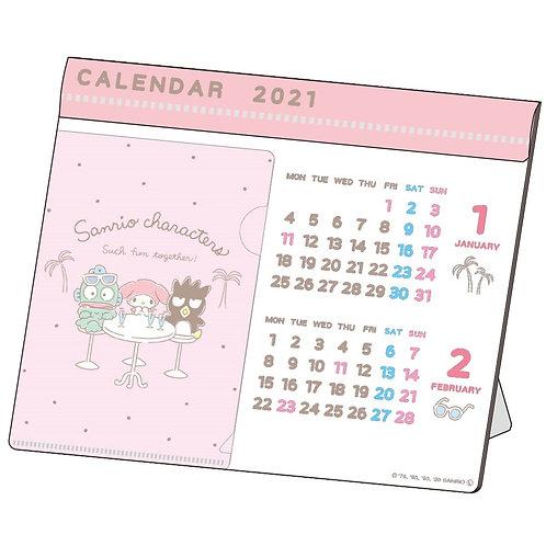 (預訂20日)座枱月曆_Sanrio