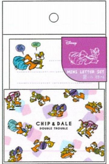 迷你信封信紙Set_Chip&Dale