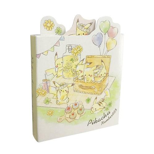 多摺Sticky Memo_Pikachu 比卡超