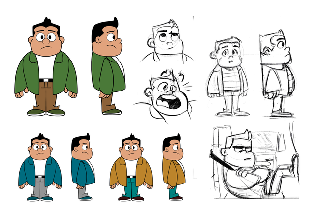 Horror storyboard kid concept deisgns.pn