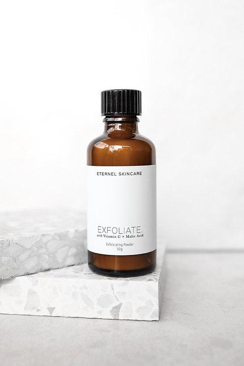 Exfoliate. Vitamin crystals