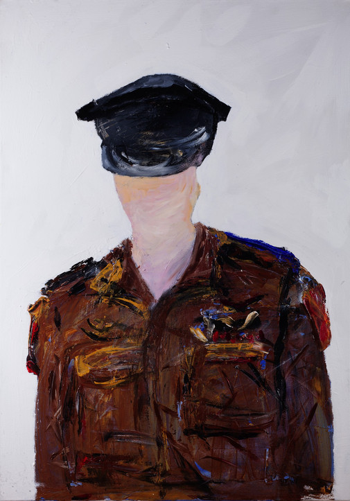 Micronesia chief of Staff, 2016, acrylic on canvas, 100x70, private collection