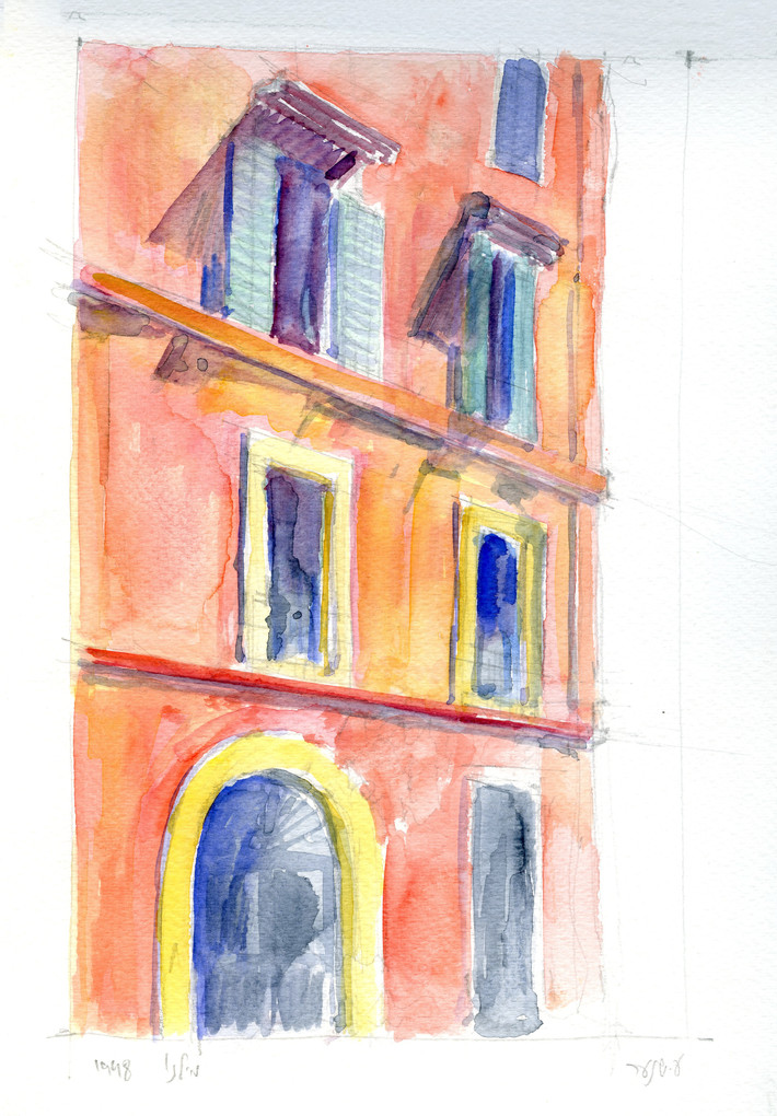 Roma, 2002, water color on paper, 30X21