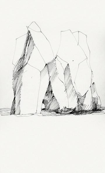 Capri, 2005, ink on paper, 30X21