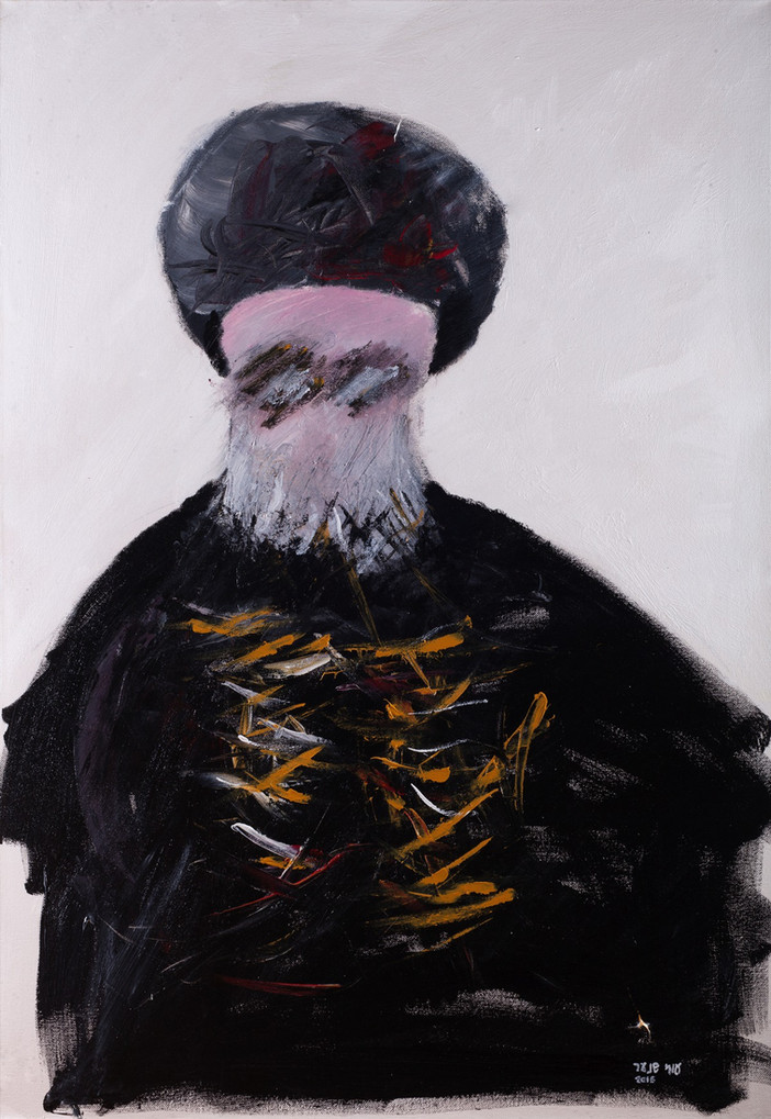 Micronesia chief Rabbi, 2016, acrylic on canvas, 100x70