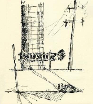 Suzuki study, 2016, ink on paper, 30X22