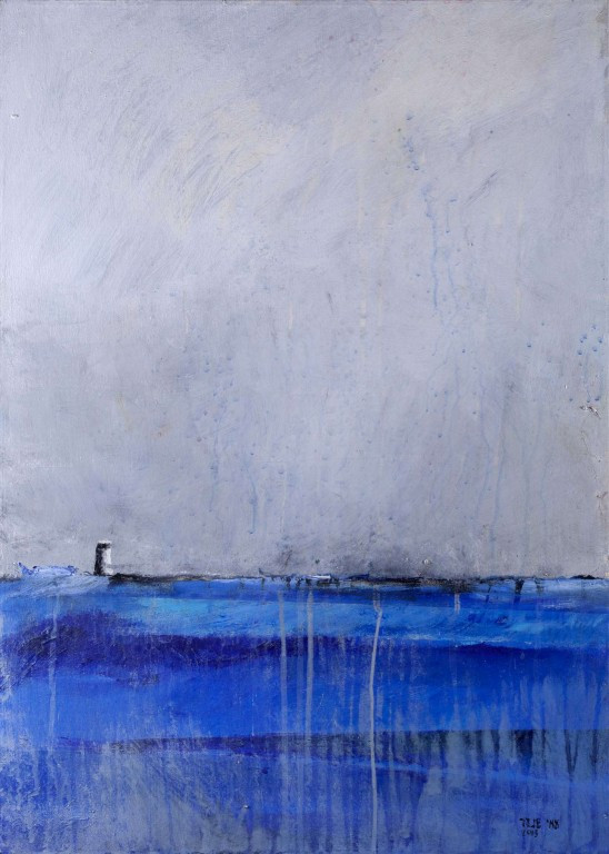 Breakwater 1, 2015, acrylic on canvas, 100X70, private collection