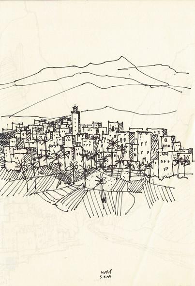Tudra, Morocco, 2001, ink on paper, 30X20.jpg.jpg