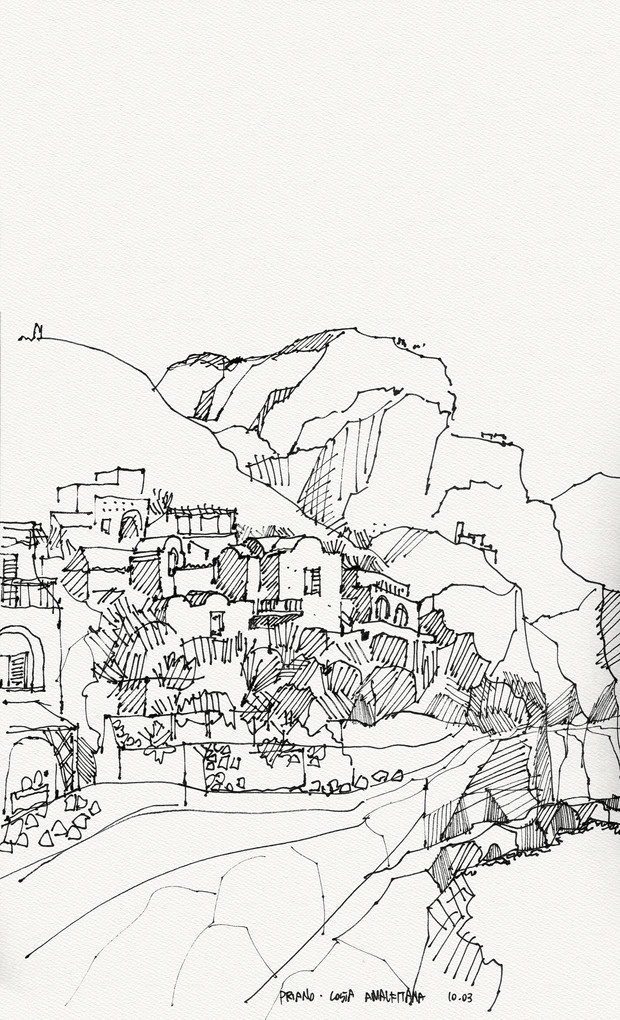 Priano, 2003, ink on paper, 30X21