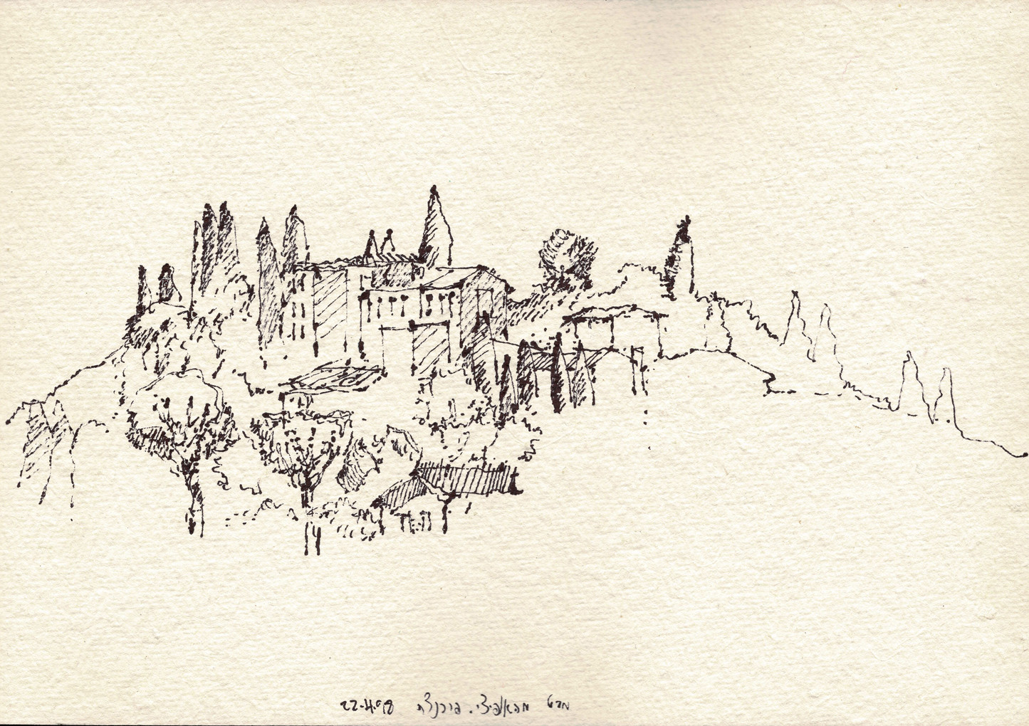 Firenze, 1998, ink on paper, 18X26
