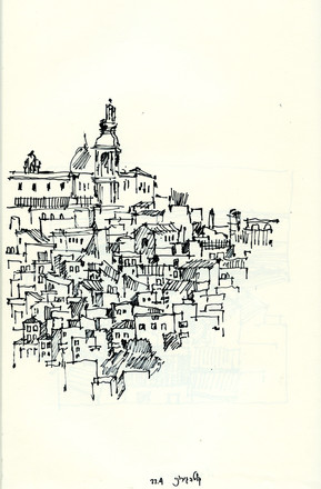 Caltajirone, 2002, ink on paper, 30X21