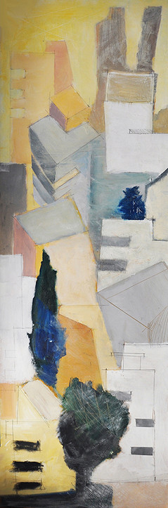 Tel Aviv Mazeh Street, 2014, acrylic on canvas, 200X60, private collection