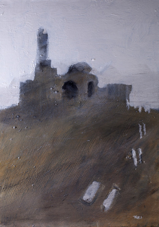 Ruin 2, 2014, acrylic canvas, 50X50