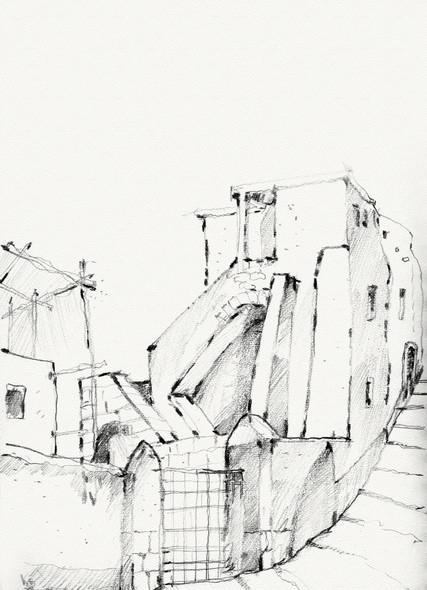 Massa Lubrnse alley, 2003,crayon on paper, 30X21
