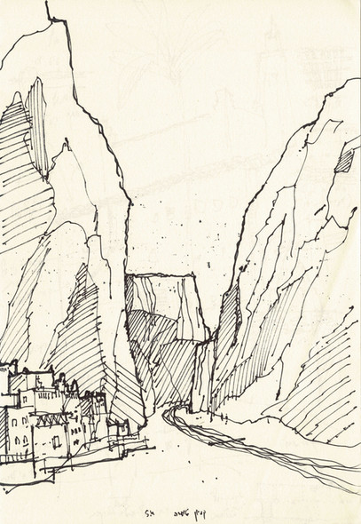 Morocco 3, 2002, ink on paper, 30X20.jpg