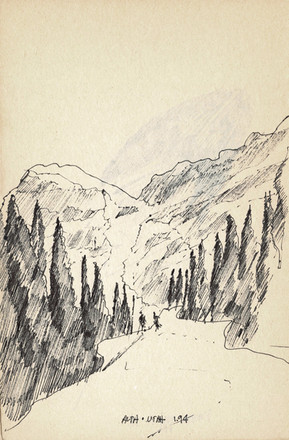 Park City, Utah 2005, ink on paper, 30X20.jpg