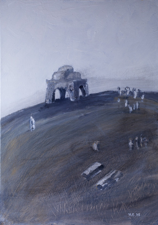 Ruin 1, 2014, acrylic canvas, 50X50