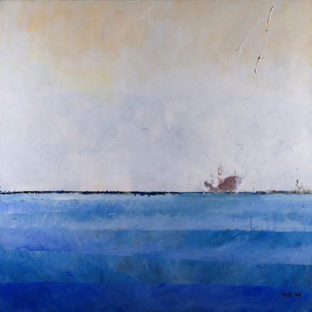 Breakwater dyptych 2, 2015, acrylic on canvas, 100X100 eachpg