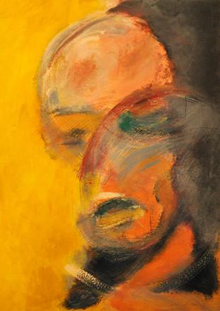 Self portrait 1, 2016, acrylic on paper. 70X50