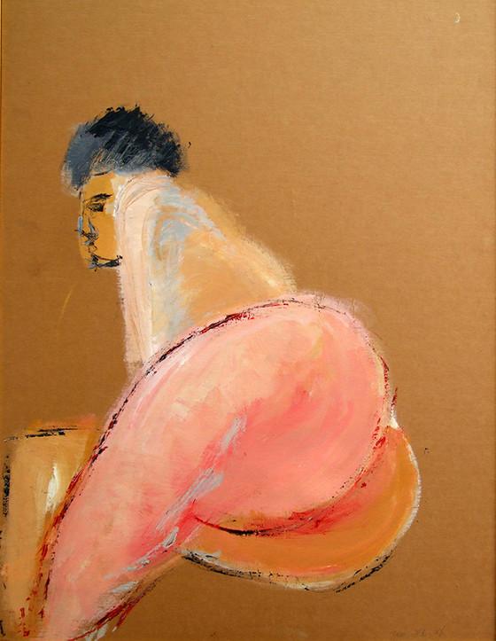 Nude 4, 2013, acrylic on papaer, 100X70